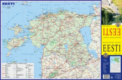 Estonia Pocket size road map wwwkarteslv