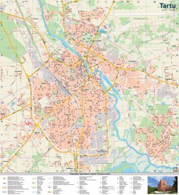 Tartu Waterproof map wwwkarteslv