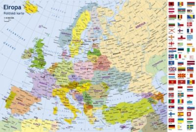 Europe Political Map Children Puzzle Wwwkarteslv - Map of europe for children