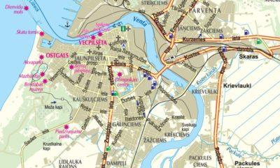 Latvia Pocket size road Map wwwkarteslv