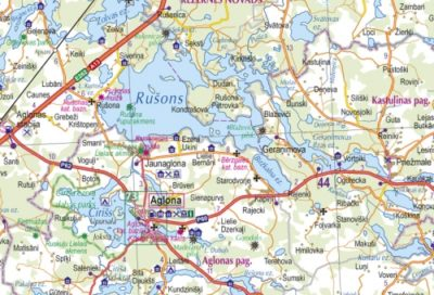Latvia Road atlas wwwkarteslv
