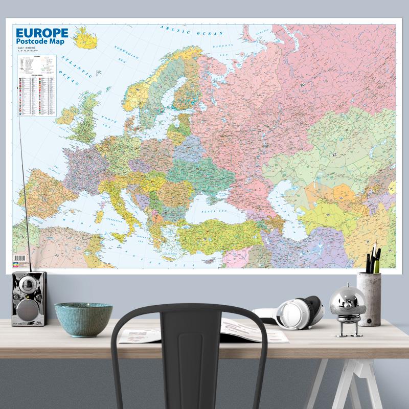 Postal code map of Europe