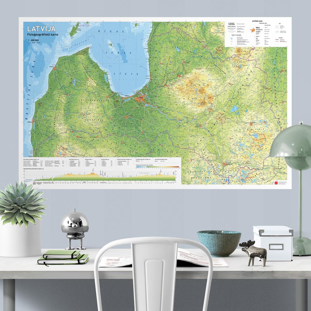 Fizioģeogrāfiskā sienas karte
