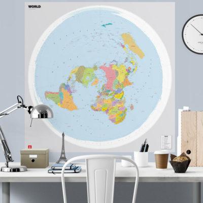 Pasaule-polara-projekcijas-karte